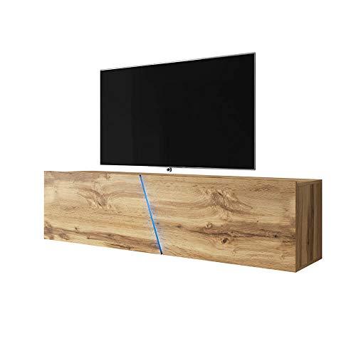 Selsey Wotan Meuble TV en chêne Mat 160 x 40 x 35 cm