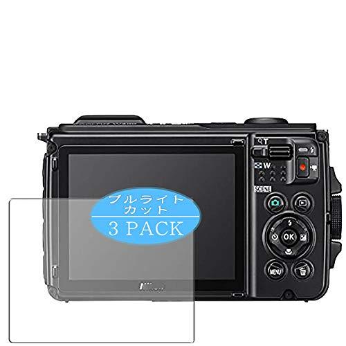 VacFun 3 Pezzi Anti Luce Blu Pellicola Protettiva, Compatibile con Nikon COOLPIX W300 (Non Vetro Temperato) Protezioni Schermo Cover Custodia