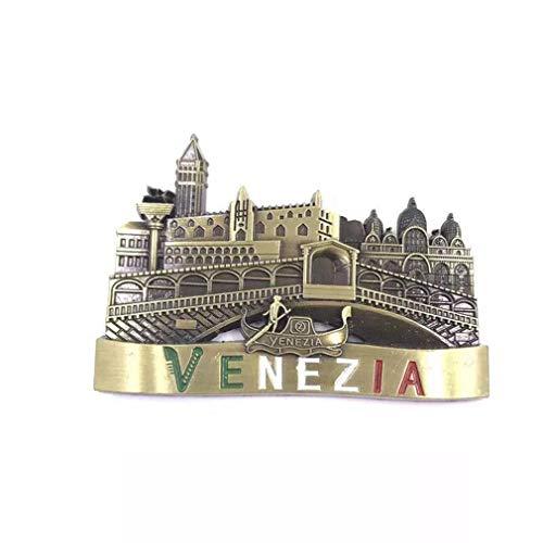 Bella Imanes para Refrigerador Nevera Fridge Magnet Frigerator Imán Viaje Souvenir Metálico Italia Venecia Gondola Ponte dei Sospiri