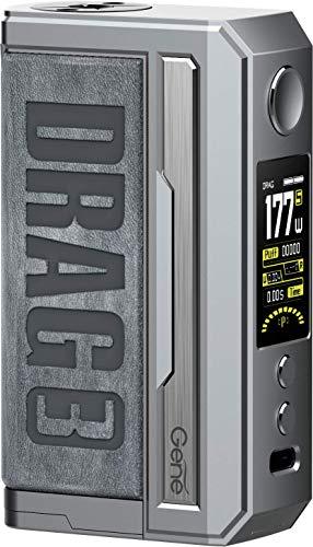 DRAG 3 MOD, Originale VOOPOOO Drag 3 177W Box Mod 3 + 1 Draw Modes 0.001s Extreme Ignition alimentato da due batterie 18650 esterne compatibili con atomizzatore TPP
