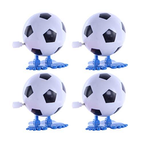 Tomaibaby Uhrwerk Fußballspielzeug Wind Up Jumping Fußballspielzeug Lustige Uhrwerk Kinderspielzeug Sport Party Gefälligkeiten 8Pcs