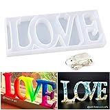 Let's Resin, stampo in resina epossidica per decorazione da tavolo fai da te, con luce fatata per...