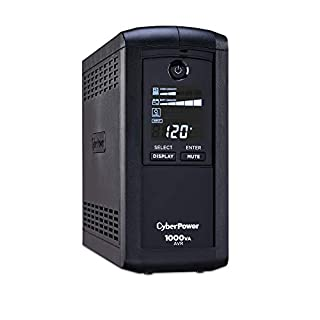CyberPower CP1000AVRLCD Intelligent LCD UPS System, 1000VA/600W, 9 Outlets, AVR, Mini-Tower (B000QZ3UG0) | Amazon price tracker / tracking, Amazon price history charts, Amazon price watches, Amazon price drop alerts