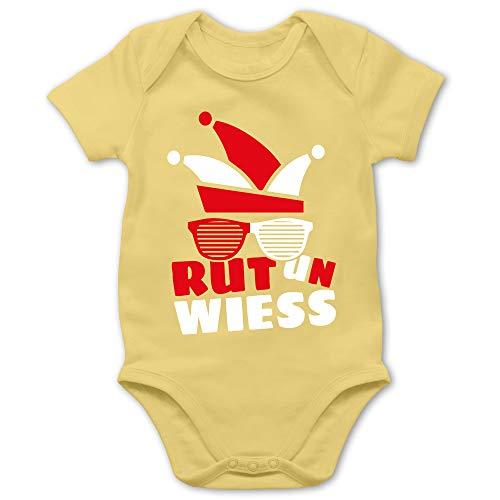 Shirtracer Karneval und Fasching Baby - Rut un wiess - 12/18 Monate - Hellgelb - Verkleidung Kostüm - BZ10 - Baby Body Kurzarm für Jungen und Mädchen