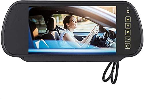 7 pulgadas de pantalla táctil delantera y trasera cámara dual DULT para coches Mirror Dash Cam View View Monitor de espejo LCD Monitor de cámara de respaldo de pantalla para automóviles camiones