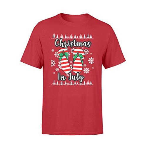 Chanclas navideñas feas de Navidad en julio - camiseta estándar