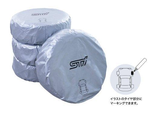 SUBARU/スバル STI【マーカー付きタイヤカバー(4枚セット) Mサイズ】STSG13100030
