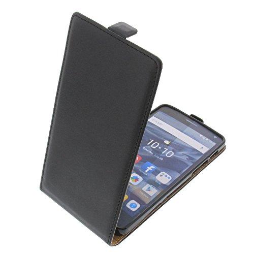 foto-kontor Tasche für Alcatel One Touch Pop 4S Smartphone Flipstyle Schutz Hülle Schwarz