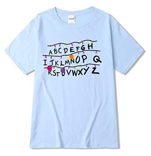 HUASON Bambini e Ragazzi Stranger Things T-Shirt Stampa di Logo Colorato Maglietta Casual Comoda per Ragazzo e Ragazza