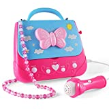 Car Guardiance Kids Karaoke Machine, Girls Karaoke Machine Toys Music Player with Microphone and...