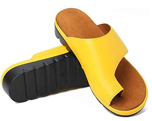 JSONA Sandalias para Mujer Plataforma de cuña Cómodas Sandalias de Cuero Antideslizantes para Caminar Playa de Verano con Playa Moda de Viaje Zapato al Aire Libre Patrón de Flores