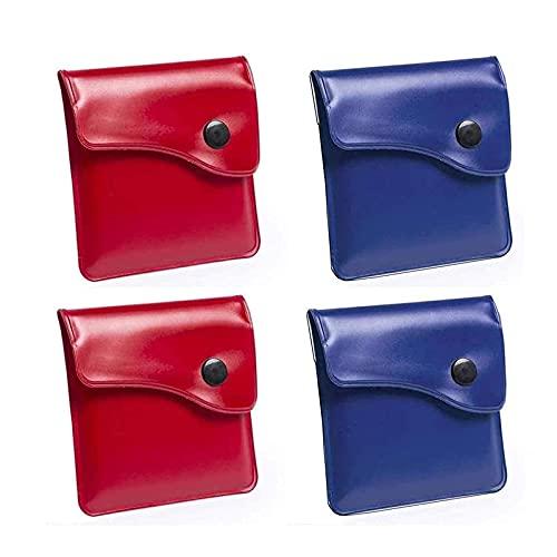 Lvcky 4Pcs Posacenere da Tasca Astuccio da Cenere - PVC Anti-Odore a Prova di Fuoco - Mini posacenere Compatto da Mini-Portatile Design Semplice