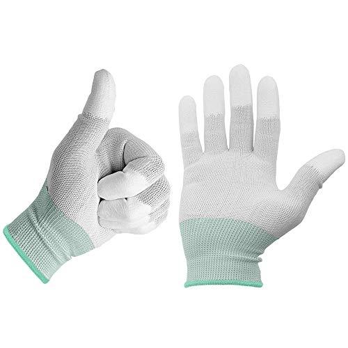 Minadax ESD - 2 paia di guanti antistatici in carbonio per lavori elettronici, taglia M, ideali per la pulizia e la riparazione
