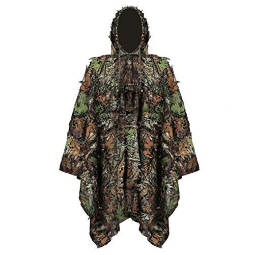 linjunddd Ghillie Suit Stealth Sniper Set 3D-Camouflage Cape Umhang Dschungel Für Outdoor Weihnachtsdekoration Convenient Supplies
