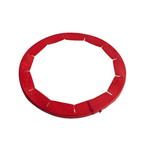 AMhomely Silikon Pie Crust Shield Silikon Fit 8.5-11.5 Zoll gerahmte Schale, einstellbare Pie Ring Silikonrand Ring, Backen Werkzeug, Küche liefert (Rot)