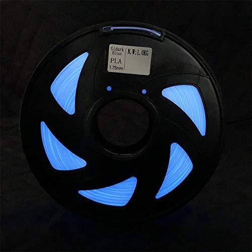 PLA 3D Imprimante Filament PLA ABS 1.75mm 1 kg Bois TPU PETG PP PC Métal Plastique Filament Matériaux 3D Pen Recharges for Filament RepRap (Color : PLA Glow Blue Plus)