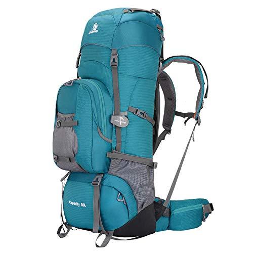 Simmia Sport Wanderrucksack Sportrucksack Fahrradrucksack Bergsteigenbeutel im Freientasche 90L große Kapazität Reisetasche wasserdicht Gepäck Rucksack Rucksack Camping Zelt Tasche blau