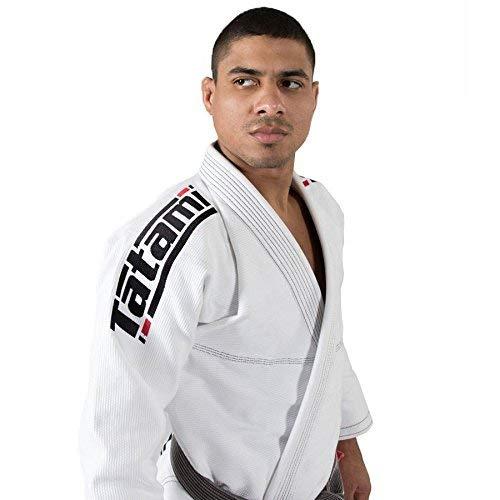 Tatami BJJ Gi Estilo 6.0 Blanco Negro Premier Jiu-Jitsu Brasileño Uniforme Kimono Vendido por Minotaurfightstore - A1