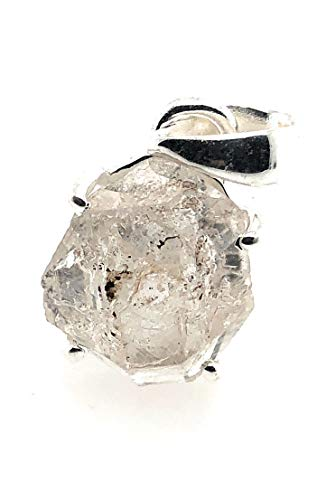 Natural Herkimer Diamond 925 Solid Sterling Silver Cluster Pendant 20Mm
