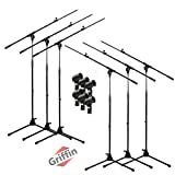 Microphone Boom Stand with Mic Clip Adapter (Pack of 6) by GRIFFIN | Adjustable Holder Mount For Studio Recording Accessories, Singing Vocal Karaoke, Live Stage | Tripod Folding Legs & Telescoping Arm