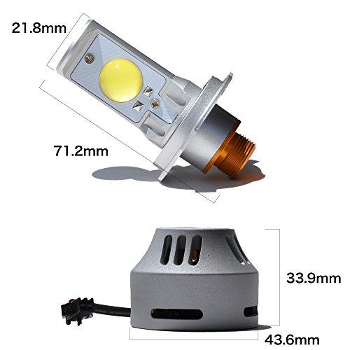 『LEDヘッドライト H4 HI/LO 7000K 6400ルーメン H05 CREEチップ 両面 LEDバルブ オリジナル』の2枚目の画像