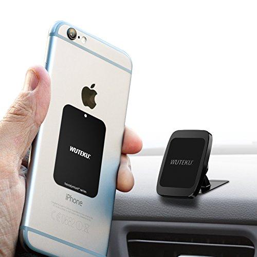WUTEKU Supporto Magnetico per Smartphone con 6magneti per Mantenere Heavy Smartphone Come Samsung S8& S8Plus, iPhone 7e 7Plus, Galaxy S8e S8Plus- Heavy Duty Sistema di Montaggio Regolabile