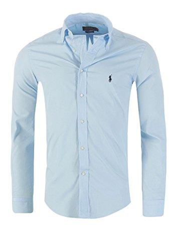 Ralph Lauren Herren Hemd Classic Slim Fit S-M-L-XL-XXL Outlet, Größe:L, Farbe:Hellblau