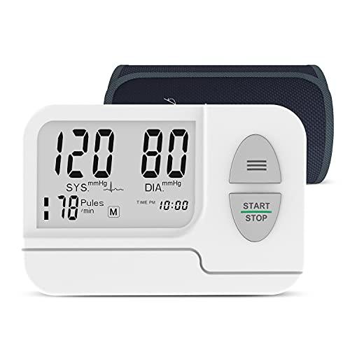Blutdruckmessgeräte Oberarm mit Manschettengröße 22-42 cm und großem LCD-Display, unregelmäßiger Herzschlagdetektor mit tragbarer Tragetasche für den Heimgebrauch