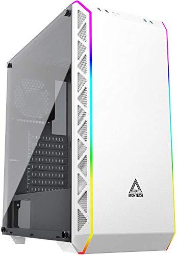 Montech Flusso d'Aria Elevato/Ventole silenziose/E-ATX/ATX/Micro ATX/Mini ITX/Case PC per Computer da Gioco(Bianco) Montech Air900 ARGB-Bianco