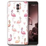Stuff4 Phone Case for Alcatel 1X 2019 Cute Flamingo Cartoon