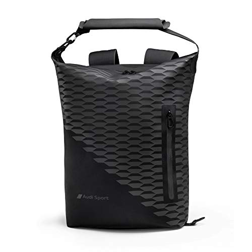 Audi 3152000800 Rucksack Travel Backpack Bag, Black, Medium