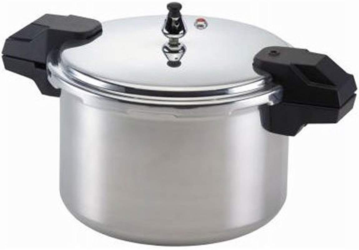 Mirro 92116 Polished Aluminum 5 10 15 PSI Pressure Cooker Canner Cookware 16 Quart Silver