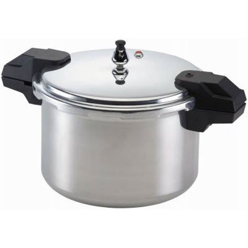 Mirro 92116 Polished Aluminum 5 / 10 / 15-PSI Pressure Cooker / Canner Cookware, 16-Quart, Silver