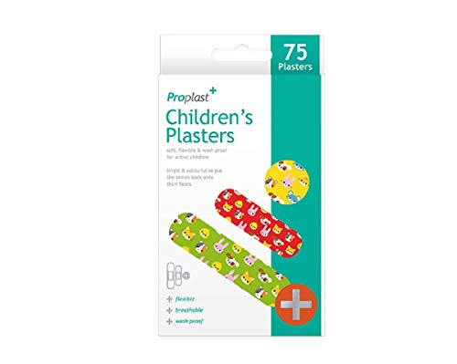75 Fun Childrens Plasters Band Aids Sterile Breathable Assorted Sizes Designs Shopmonk