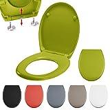 MSV WC Sitz Toilettendeckel Duroplast mit Absenkautomatik und auf Knopfdruck abnehmbar zur Reinigung...