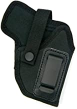 HOLSTERMART USA Dual-Function Right Hand OWB Belt Slide or Concealment IWB Clip-On Holster with Body Shield for S&W Bodyguard 380 with or Without Factory-Installed CT or Insight Laser