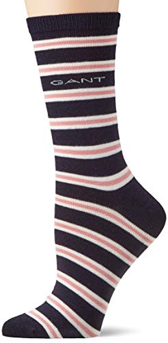 GANT Damen D1. Striped Socken, Blau (Marine 410), One Size (Herstellergröße: Oversize)