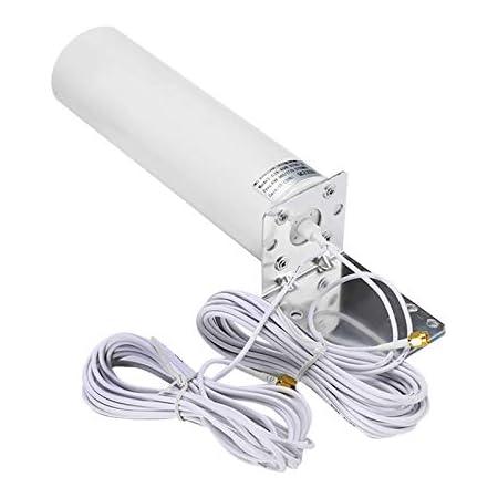 Tamkyo Antenne Ext/éRieure 4G LTE TS9 Antenne Ext/éRieure 3G 4G Antenne Externe 10-12DBi avec Double Connecteur TS9 pour Modem Routeur 4G 4G