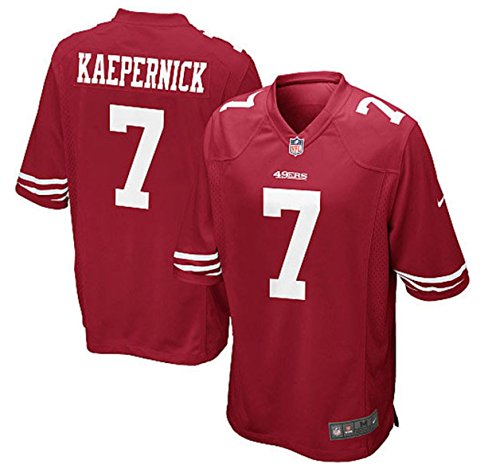 Nike Youth Large (14-16) Colin Kaepernick San Francisco 49ers Game Jersey - Red