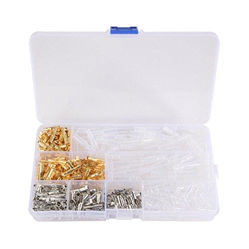 Lot de 100 blocs de bornes de connecteurs Bullets en laiton mâles et femelles, 3,9 mm, pour moto/voiture/camion, avec couvercles d'isolation