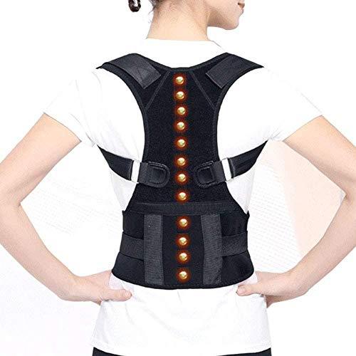 Soporte para la Espalda Cinturón de corrección Imán magnético Corrector de Postura Forma del Cuerpo jorobado Fijación de la Espalda-Medio Fantastic