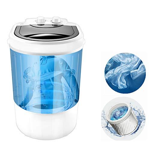 Mini lavadora multifunción portátil, dos funciones de lavadora de zapatos y lavadora de ropa, capacidad de 9 libras, ideal mini lavado