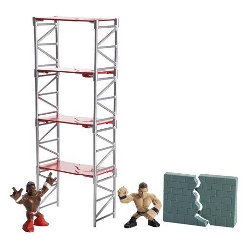 WWE Rumblers – Scaffold Smash – The Miz & Kofi Kingston – Figurines 5cm + Echafaudage (Import UK)