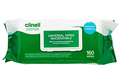 Clinell Universal Maceratable Wipes - Pack of 140 from Gama Healthcare