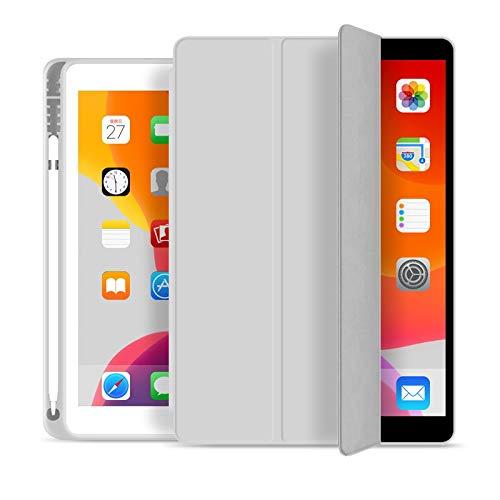 Skhawen for 2019 iPad 10.2 7. 2018 2017 9.7 Mini 4 5 2020 Pro 11 10.5 Air 3, Bleistifthalter Smart Cover Hülle for iPad 5. 6. Generation (Farbe : Grau, Größe : for iPad Mini 4 5)