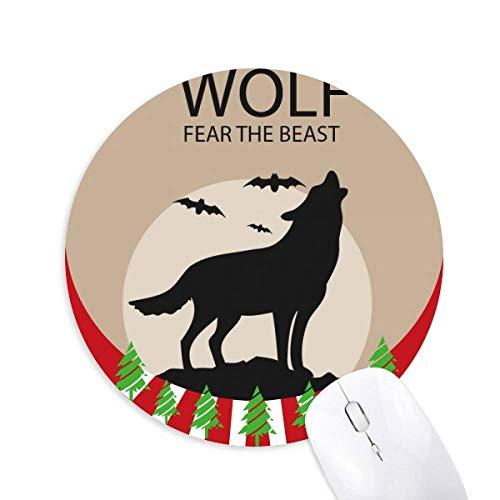 Wolf Geist Angst Halloween Kürbis Rund Gummi Maus Pad Weihnachtsdekoration
