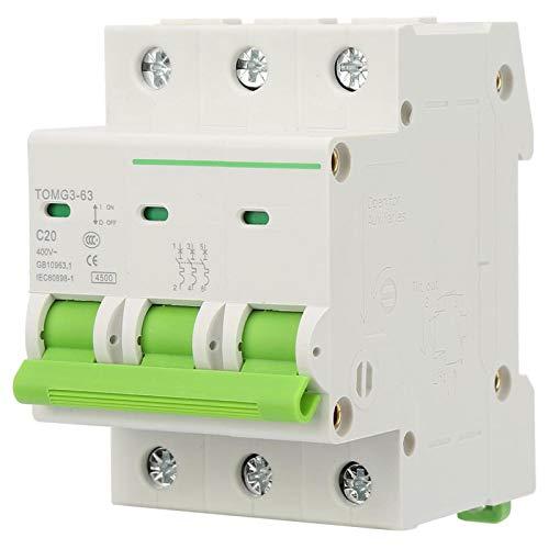 Interruptor de potencia tipo C de alta precisión de 3 pines para uso comercial (20 A).