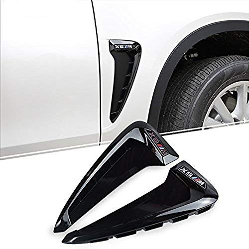 Marqueur de côté Noir Fender Garniture d'aération pour décoration auto Accessoires de voiture à l'extérieur de style 2 pcs
