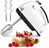 Hand Mixer Electric, 7-Speed Hand-Held Electric Whisk, Lightweight Electric Hand Mixer Stainless Steel Egg Whisk with Egg Sticks and Dough Sticks for Whipping Cream, Cakes, Dough, ect