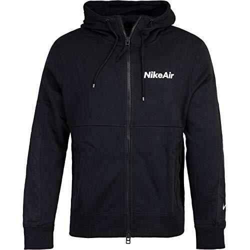 Nike Air Full Zip Fleece Hoody blanco/negro XXL